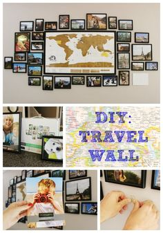 Amazing Travel Wall Beautiful doesn't need to be costly. Should you really need to find that farmhouse look, look at including a plank wall. Kids Room Wall Art, Diy Wall Art, Photowall Ideas, Travel Bedroom, Decoration Photo, Travel Crafts, Travel Diys, Travel Souvenirs, Travel Themes