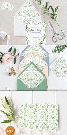 Your place to buy and sell all things handmade Baby's Breath Wedding Flowers, Blue Wedding Flowers, Free Background Patterns, Diy Envelope Liners, Pastel Bridesmaids, Wedding Rings Simple, Notes Design, Watercolor Wedding, Paper Gifts
