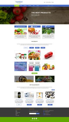 Sell365's Nutrition Store Template. One of the best Website Builder in India. Design and customize your own website with our free website templates.