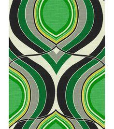 Home Decor Print Fabric: @HGTV HOME Groove Move Malachite