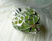 Worry Locket - peridot gem.. love this!