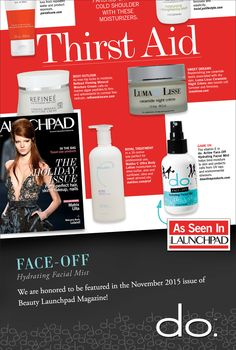 The do. Active Products accolades keep coming in... Once again, we are honored to be featured in the November issue of Beauty Launchpad magazine. We think the beauty experts are on to something here smile emoticon Why not add do. Active Products as a part of your fitness routine? Give it a try today! #dothedo