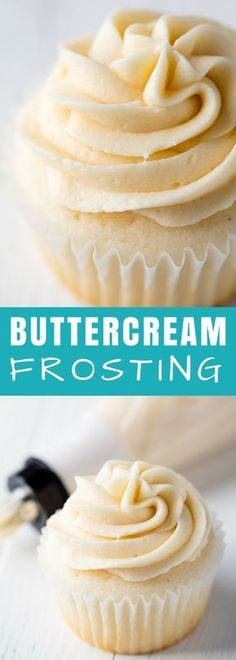 is a option for and This buttercream frosting is perfection every single time. Buttercream Frosting is a classic option for cakes and cupcakes. This buttercream frosting recipe is perfection every single time. Frost Cupcakes, White Cupcakes, Mocha Cupcakes, Banana Cupcakes, Strawberry Cupcakes, Velvet Cupcakes, Easter Cupcakes, Flower Cupcakes, Christmas Cupcakes