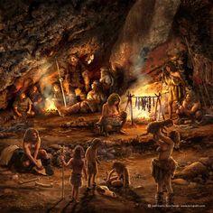 2- Cuando en la prehistoria se descubre el fuego, se empiezan a cocinar y ahumar los alimentos, forjando los orígenes de la actal cocina.