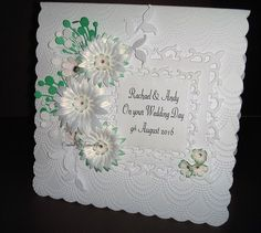 Joylovescrafts   docrafts.com Our Wedding Day, I Card, Wedding Cards, Projects, Wedding Ecards, Log Projects, Blue Prints, Wedding Invitation Cards, Wedding Card