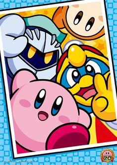 Kirby, Dedede, Meta Knight, and Waddle Dee