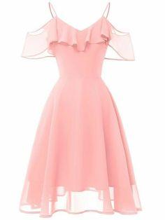 Women's Flowy Strapless Shoulder Chiffon Dress LaceShe Women Flowy Trägerloses Schulter-Chiffon-Kleid Cute Prom Dresses, Pretty Dresses, Homecoming Dresses, Beautiful Dresses, Short Dresses, Bridesmaid Dresses, Summer Dresses, Short Chiffon Dress, Maxi Dresses