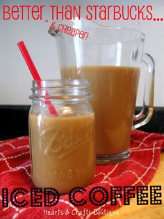 hearts & crafts: {better than Starbucks} Iced Coffee Recipe