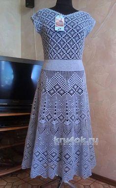 Платье Прованс. Работа Елены Саенко вязание и схемы вязания