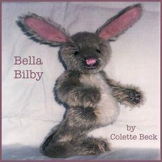 Digital art doll pattern Bella Bilby by rochepapierciseaux on Etsy, $7.00