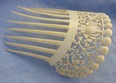 victorian hair comb