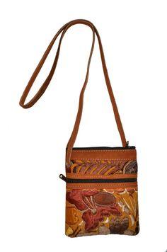 Colorful Floral Pattern Purse / iPhone Wallet - fanny pack, hip bag, shoulder bag/ Guatemalan Handmade embroidered crossbody / IKALA bags