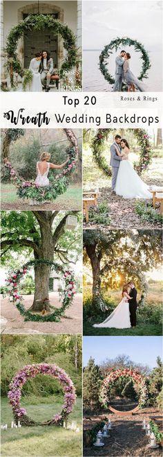 flower and greenery circular wedding backdrop ideas #weddings #weddingideas #weddingdecor