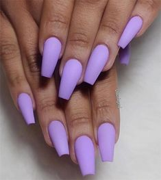40 Simple Acrylic Coffin Nails Designs Ideas For Your 2019 Nail Art Connect maaghie 40 Simple Acrylic Coffin Nails Designs Ideas For Your 2019 Nail Art Connect maaghie hellip Purple Acrylic Nails, Summer Acrylic Nails, Best Acrylic Nails, Acrylic Nails Pastel, Light Purple Nails, Violet Nails, Nail Pink, Ombre Nail, Purple Art