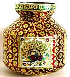 Meenakari pot Large.Code:WH M 002.Best for puja purpose and in festive/special occasions/wedding purpose.