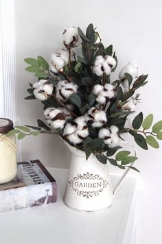 Rustic Farmhouse Decor Cotton Boll Stems Cotton by SimplyStems Cotton Candy Ideas for Parties and Ev Shabby Chic Kitchen, Shabby Chic Homes, Shabby Chic Decor, Cotton Decor, Country Farmhouse Decor, Rustic Wall Decor, Decor Styles, Cotton Wreath, Decor Ideas