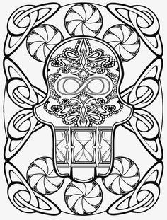 Creative Haven Hamsa Designs Coloring Book Dover Publications