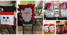 Vídeo tutorial haz lindos cubre sillas navideños en fieltro Ladder Decor, Gift Wrapping, Crafts, Home Decor, Christmas Ornaments, Throw Pillows, Sun, Christmas Angel Ornaments, Christmas Patterns