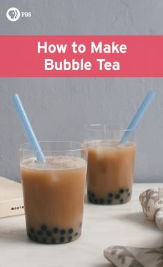 How to make Bubble Tea at home with six ingredients to create this favorite Taiwanese drink.