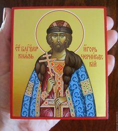 Купить Святой Благоверный князь Игорь Черниговский - икона, икона в подарок, Икона ручной работы
