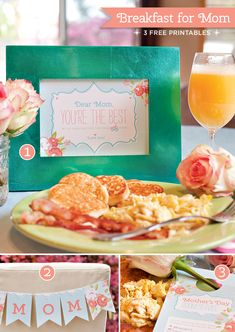 Free Mothers Day Breakfast Printables http://blog.hwtm.com/2013/05/free-mothers-day-printables-from-hwtm-web-round-up/