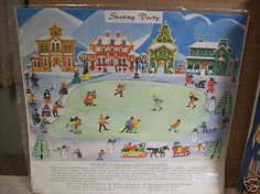 Skating Party. Village skaters for Putz villages.  These are made of a plastic type material.