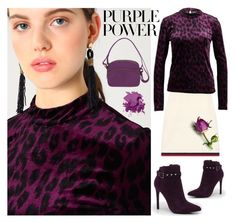 Purple power by amisha73 on Polyvore featuring moda, Gucci, Boohoo, Travelon, Bobbi Brown Cosmetics, purplepower, internationalwomensday and pressforprogress