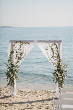View seaside wedding decorations, table decoration, bride & groom and more. MA Mykonos weddings planner offers VIP and tailor made wedding services Wedding Set Up, Seaside Wedding, Plan Your Wedding, Mykonos Island, Wedding Decorations, Table Decorations, Bride Groom, Wedding Planner, Arch