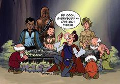 HAHAHAHA! Star Wars meets Snow White.
