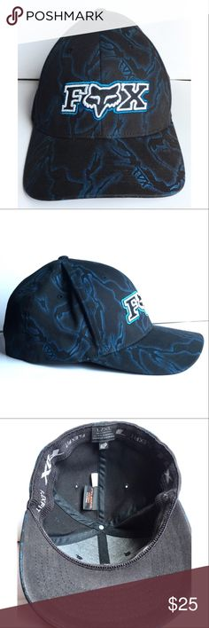 🖤💙Fox Racing Blue Lightening Hat Black Fox Racing hat with blue lightning design. Like new - worn once. Size large or extra large.                                                                                                 **🛍Bundle with more items!**                                                                                                          ✔ 1 to 2 day shipping ✔ Smoke free home ✖ No reserves ✖ No trades Fox Accessories Hats
