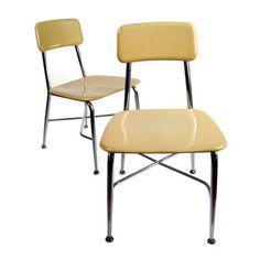 HeyWoodite Chairs Pair  by Heywood Wakefield