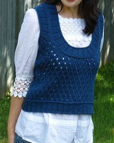 Fence Vest By Maria Leigh - Free Knitted Pattern - (ravelry)