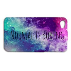 Normal is BORING Phone Case Cute iPhone Cover Funny iPod Case Beautiful Case Pretty Case Girly Case iPhone 4 iPhone 5 iPhone 5s iPhone 4s on Etsy, £11.73