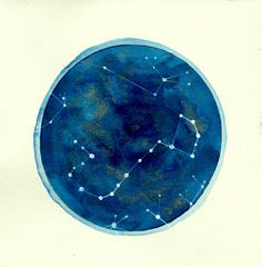 Scorpio Constellation Print - would be cute to make with watercolors and make different constellations.