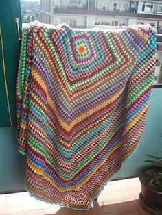 here's a granny blanket you could make with scraps