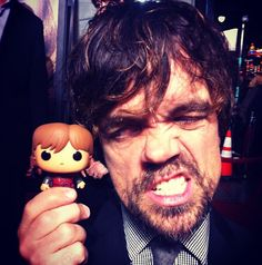 Tyrion Lannister with his Funco doll.