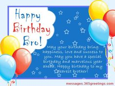 Birthday Wishes for Brother Messages, Greetings and Wishes - Messages, Wordings and Gift Ideas