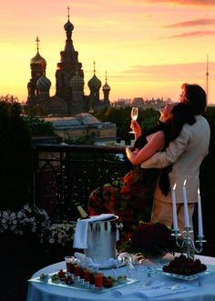 View from terrace at Grand Hotel Europe in St. Petersburg, Russia--I could die happy!