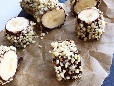 Verdens nemmeste snack, banan med chokolade og nødder ➙ Opskrift fra www.mummum.dk