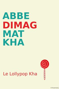Buy Lollypop Dimag Posters, Stickers & Art Prints Online Shopping India   PosterGully