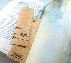 Wood Bookmark Wood Wedding Favor Bridal Shower Favor by texturemix. Loved this with a scripture on the back