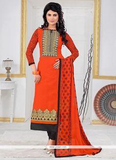 Honourable Orange Churidar Designer Suit Model: YOS6693