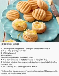 Baking Recipes, Cookie Recipes, Lemon Meringue Tart, Homemade Flour Tortillas, Cut Recipe, Tasty, Yummy Food, African Recipes, Condensed Milk