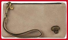 Moss Mills Mushroom Wristlet (Women) - Vintage brass on Champagne - Wristlets (*Amazon Partner-Link)