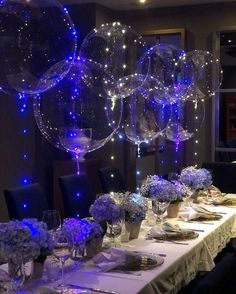 Quince Decorations, Quinceanera Decorations, Purple Table Decorations, Royal Blue Wedding Decorations, Quince Themes, Sweet 16 Party Decorations, Bridal Shower Balloons, Wedding Balloons, Balloon Party