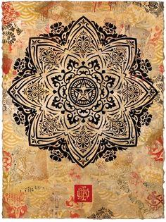 Mandala Ornament I by Shepard Fairey