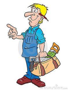 Carpenter Or Handyman Illustration Stock Vector - Illustration of expert, perfec. Carpenter Or Han Handyman Logo, Art Impressions Stamps, Image Digital, Cartoon People, Comic, Digi Stamps, Carpenter, Clipart, Cartoon Characters