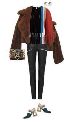 """""""Untitled #613"""" by fanfan-zheng ❤ liked on Polyvore featuring Marco de Vincenzo, Marni, Burberry and Sydney Evan"""