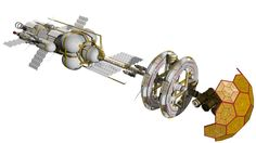 This was one of my earliest creations - a starship designed to explore the solar system. The vessel is like the space station from the hit film 2001:A Space Odyssey. The large wheel like section ro...