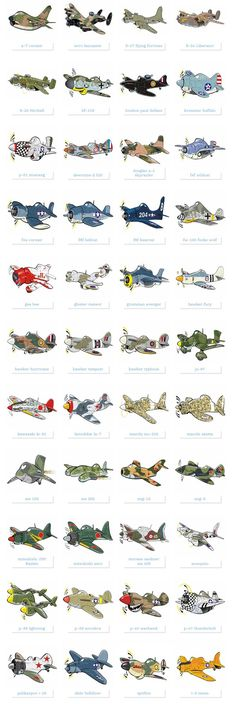 Famous military planes illustrated as cartoon style caricatures - - Ww2 Aircraft, Fighter Aircraft, Airplane Fighter, Military Aircraft, Fighter Jets, Military Weapons, Military Art, Cartoon Plane, Cartoon Cartoon